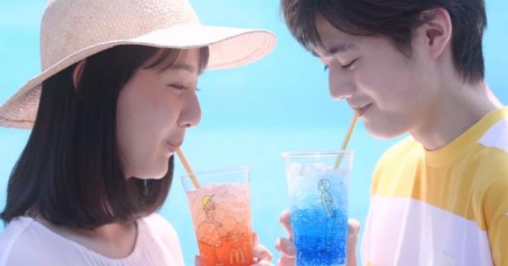 日本麥當勞的手繪文青飲料杯,被網友玩成令人傻眼的情色杯!